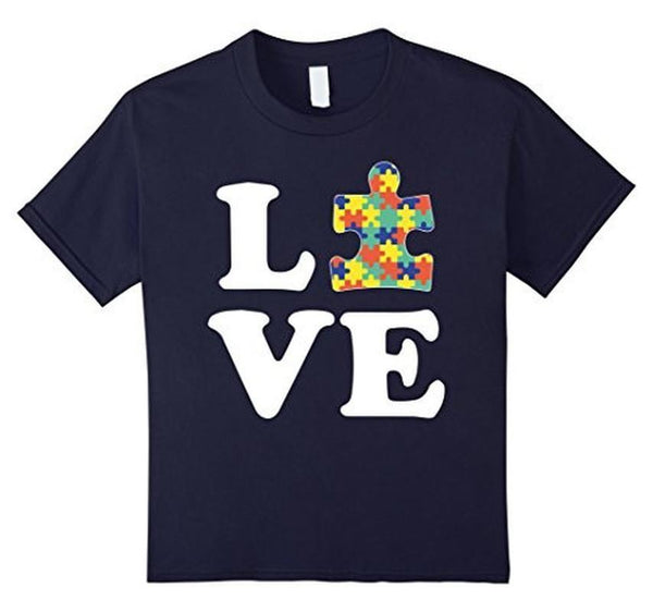 Autism Awareness Autism For Kids Men Moms T-shirt Navy / 2XL / Women T-Shirt BelDisegno