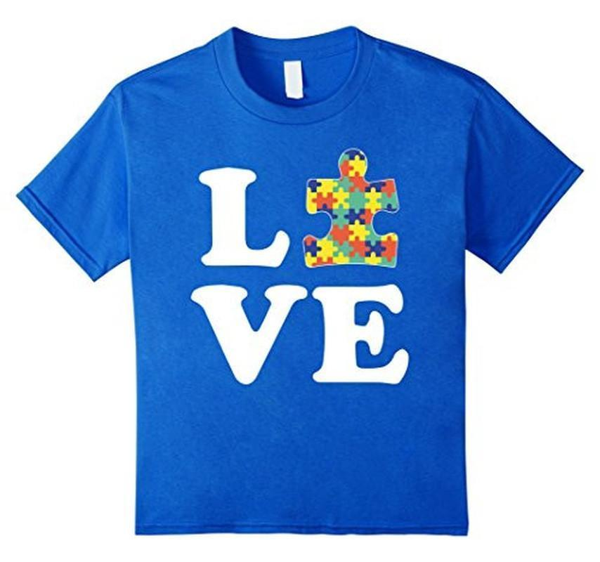 Autism Awareness Autism For Kids Men Moms T-shirt Color: Royal BlueSize: SFit Type: Men