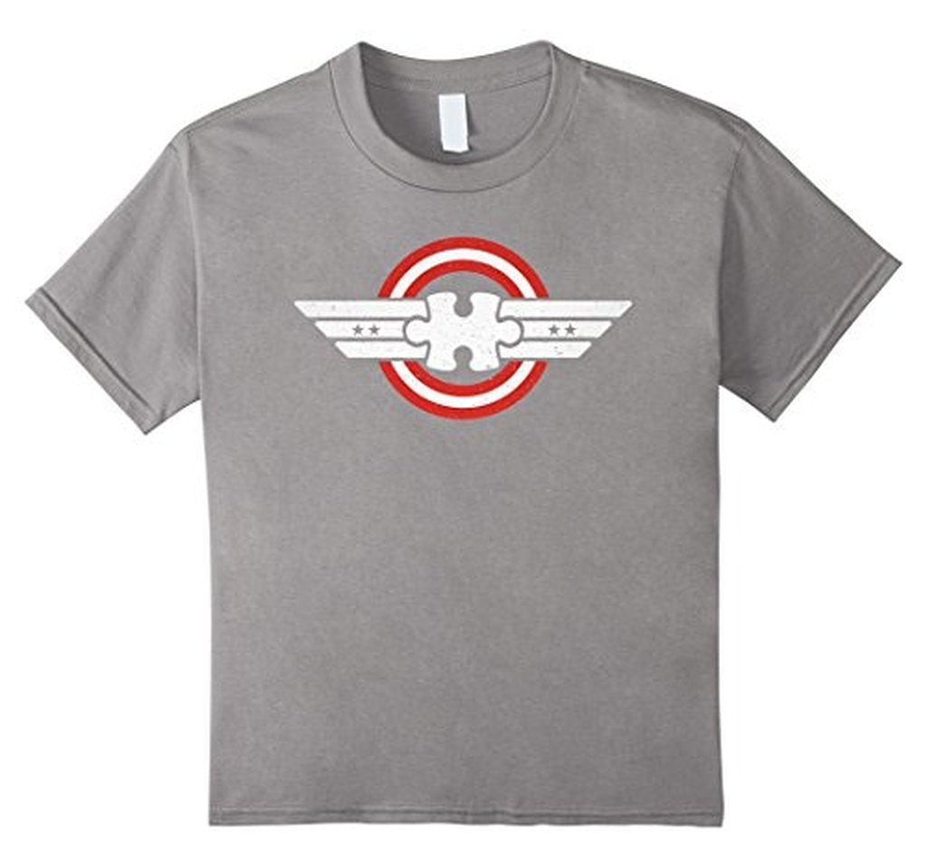 Autism Awareness Captain Autism Superhero Gift T-shirt Heather Grey / 2XL / Women T-Shirt BelDisegno