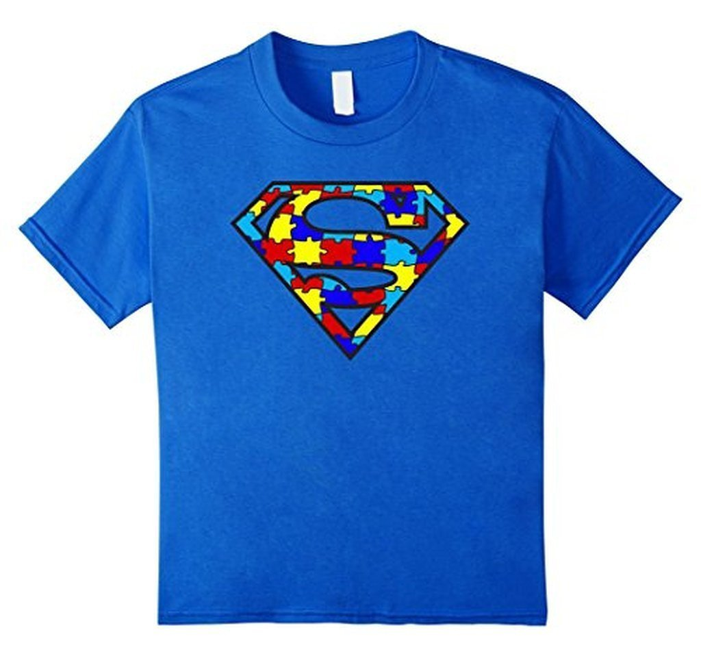 Autism Awareness Superhero Autism T-shirt - Unisex Adult size Color: Royal BlueSize: S
