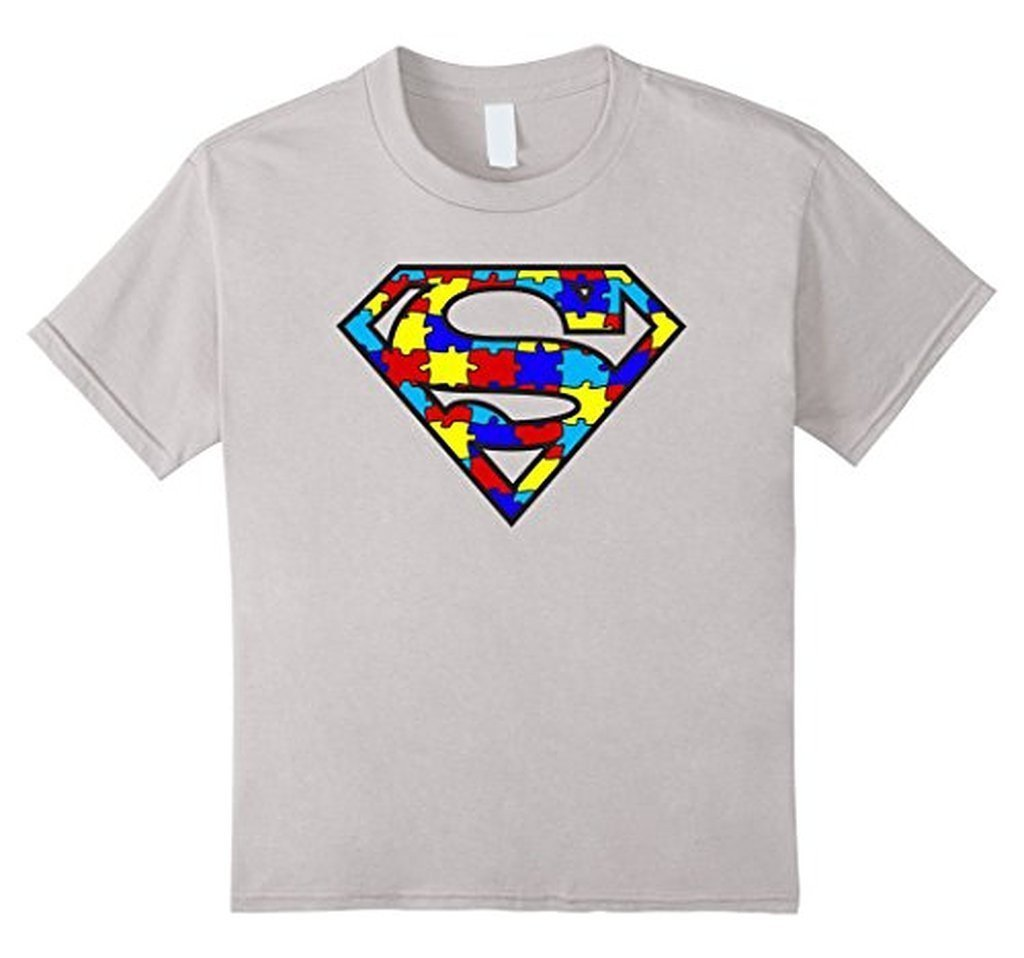 Autism Awareness Superhero Autism T-shirt - Unisex Adult size Color: WhiteSize: S