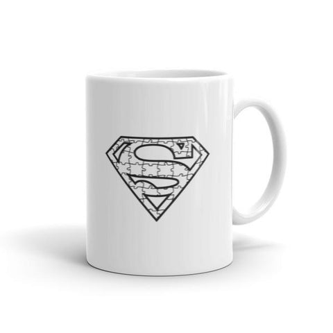 Autism Awareness Superhero Coffee Mug-Mug-BelDisegno-11oz-BelDisegno
