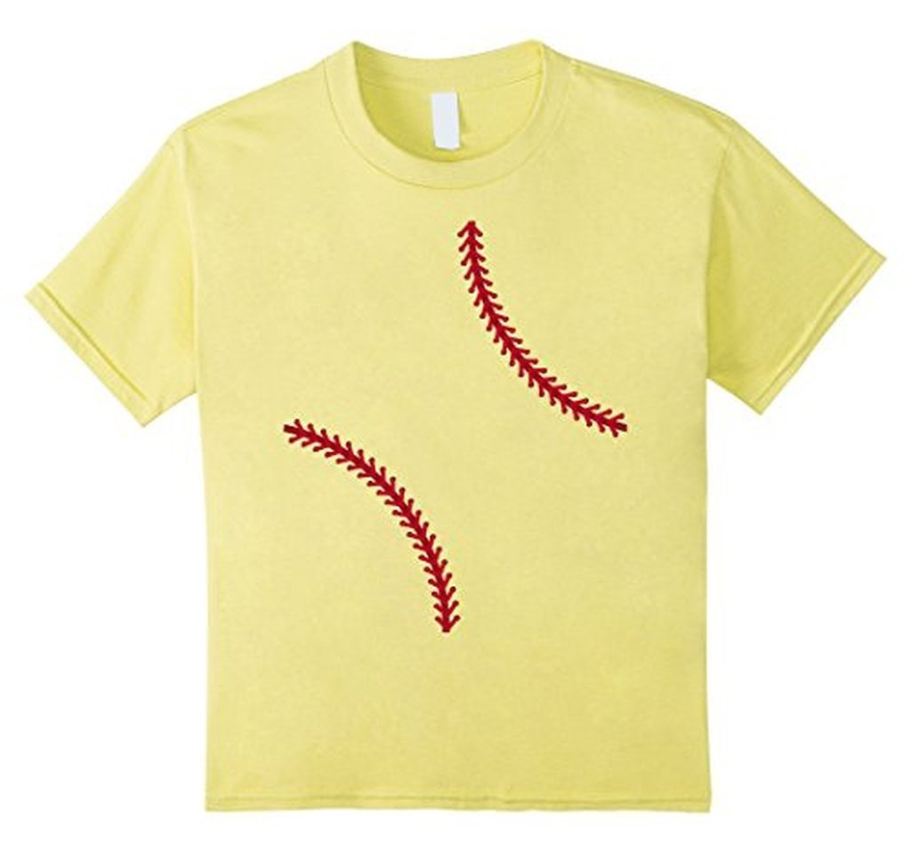 Baseball Softball T-shirt Color: LemonSize: S