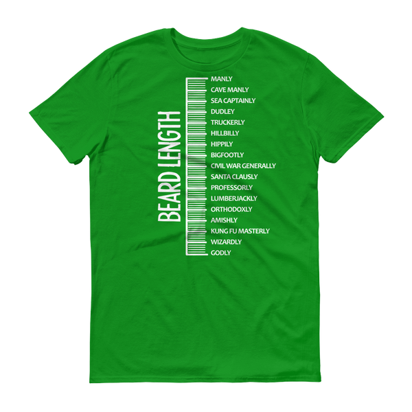 Beard length MEN TShirt-T-Shirt-BelDisegno-Green Apple-S-BelDisegno