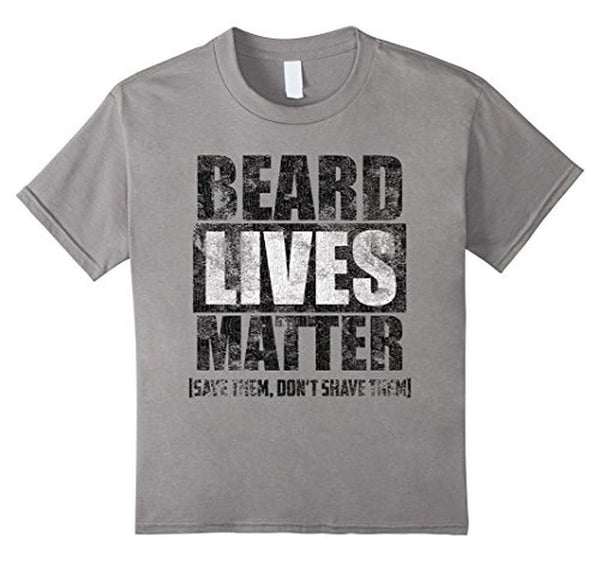 BEARD LIVES MATTER funny , save them don't shave them T-shirt Heather Grey / 3XL T-Shirt BelDisegno