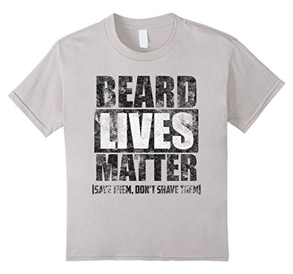 BEARD LIVES MATTER funny , save them don't shave them T-shirt White / 3XL T-Shirt BelDisegno
