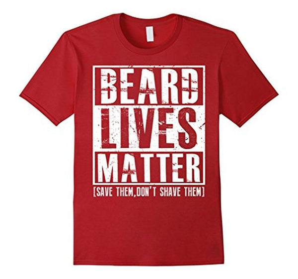 Beard Lives Matter T-shirt Funny Beard Shirt Cranberry / 3XL T-Shirt BelDisegno