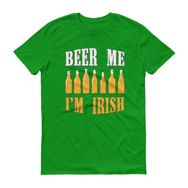 Beer me I'm IRISH Men's St Patrick's day tshirt Drinking beer party  T-Shirt BelDisegno