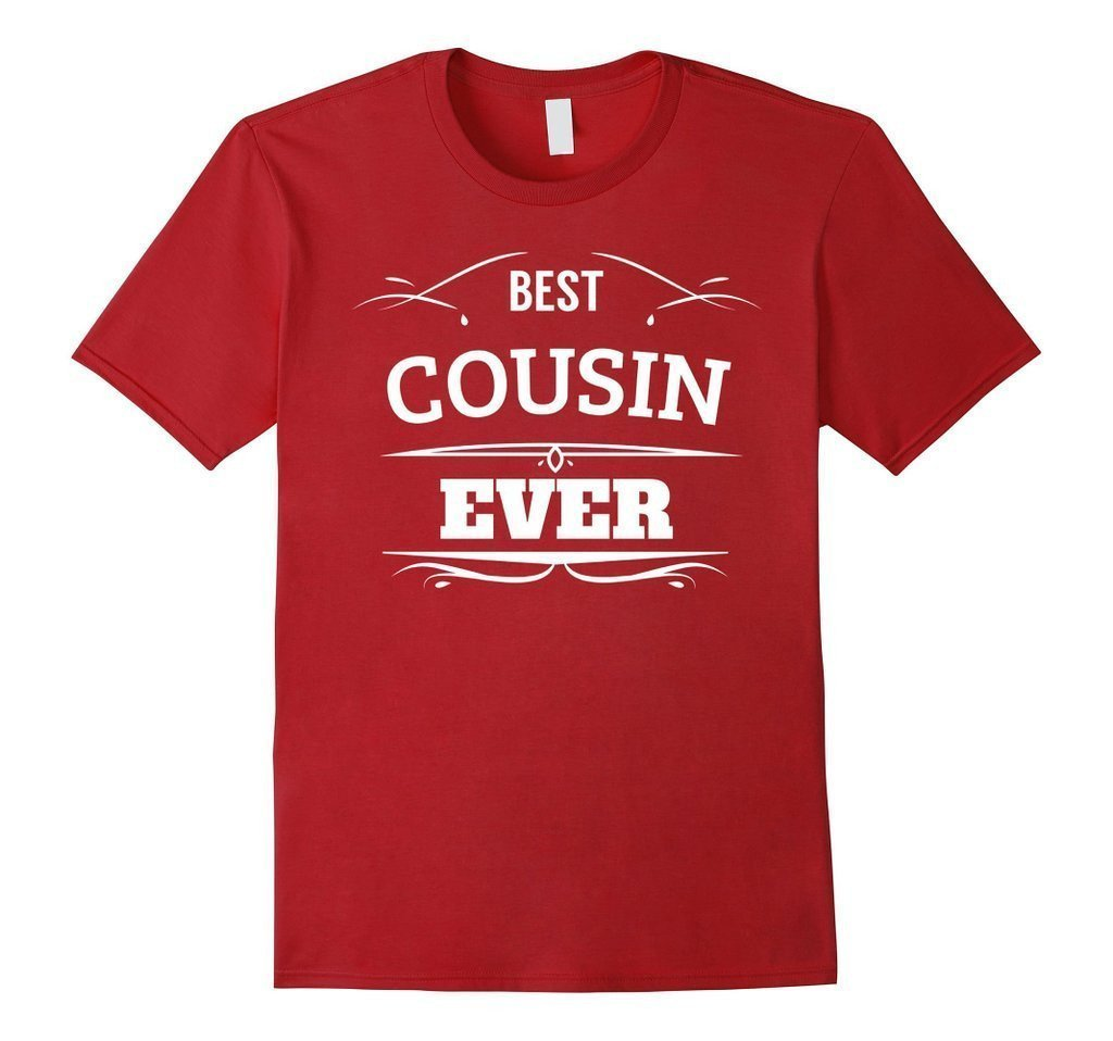 Best Cousin Ever t T-shirt Color: CranberrySize: S