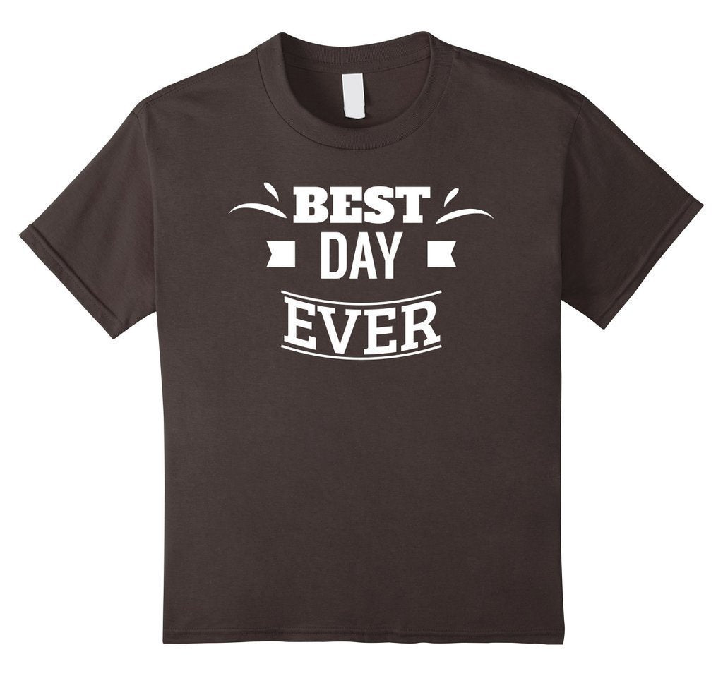 Best Day Ever Wedding Gift T T-shirt Asphalt / 3XL T-Shirt BelDisegno