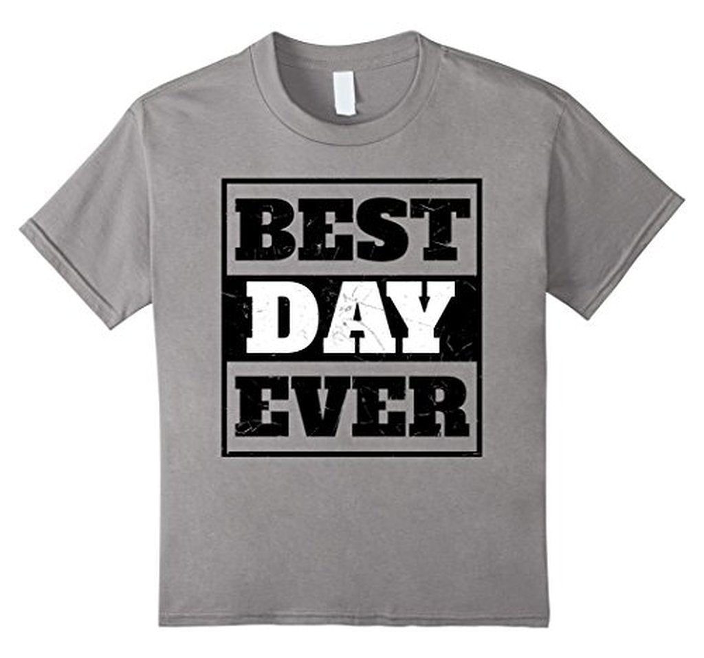 Best Day Ever Wedding Gift T T-shirt Color: Heather GreySize: S