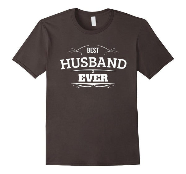 Best Husband Ever T Funny Wedding Married Man Tee Gift T-shirt Asphalt / 3XL T-Shirt BelDisegno