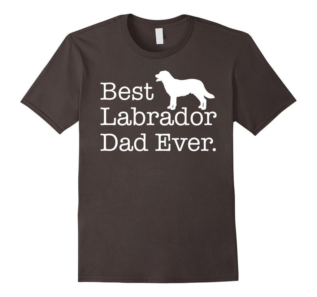 Best Labrador Dad Ever Pet Kitten Animal Parenting T-shirt Color: AsphaltSize: S