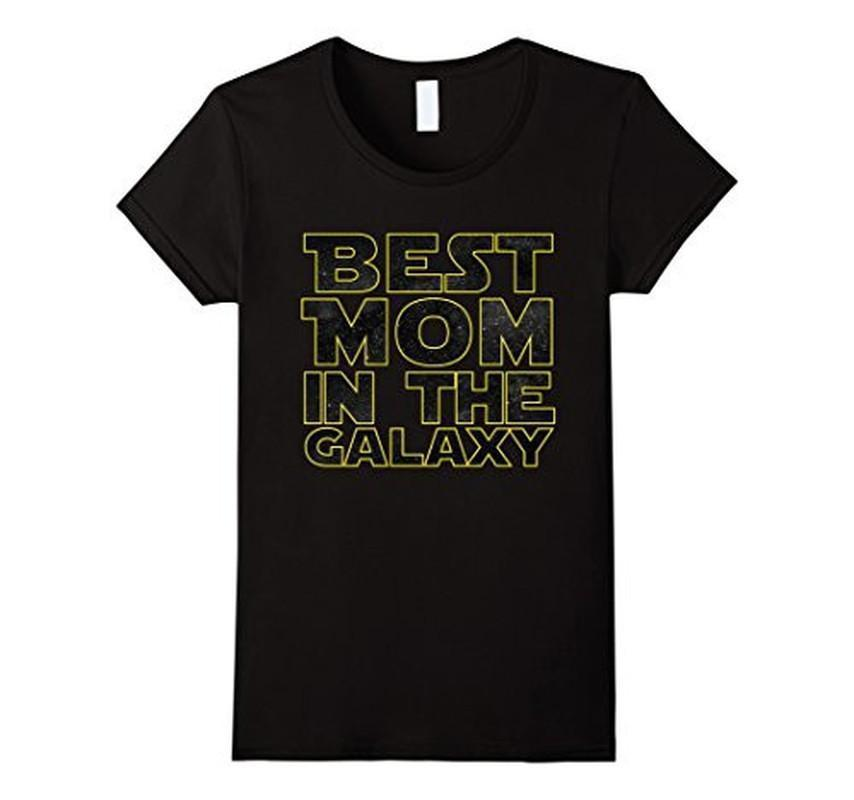 Best Mom in the Galaxy Funny T-shirt 2XL / Black T-Shirt BelDisegno