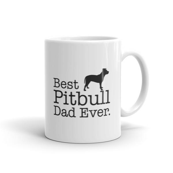 Best Pitbull Dad Ever Coffee Mug 11oz Mug BelDisegno