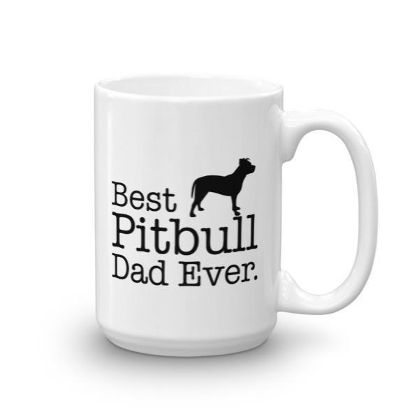 Best Pitbull Dad Ever Coffee Mug 15oz Mug BelDisegno
