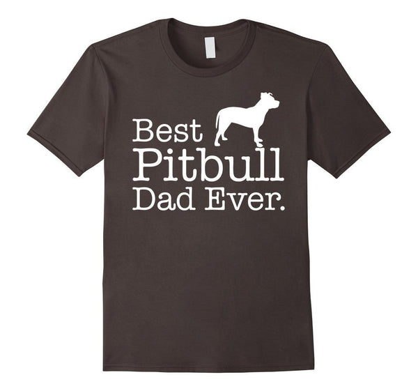 Best Pitbull Dad Ever Pet Kitten Animal Parenting T-shirt Asphalt / 3XL T-Shirt BelDisegno