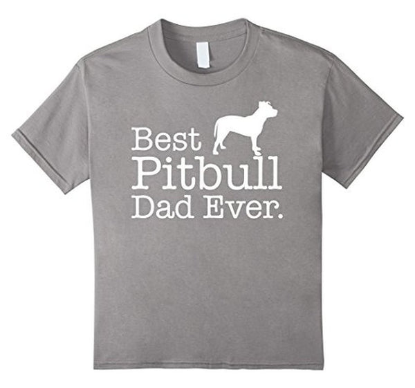 Best Pitbull Dad Ever Pet Kitten Animal Parenting T-shirt Heather Grey / 3XL T-Shirt BelDisegno