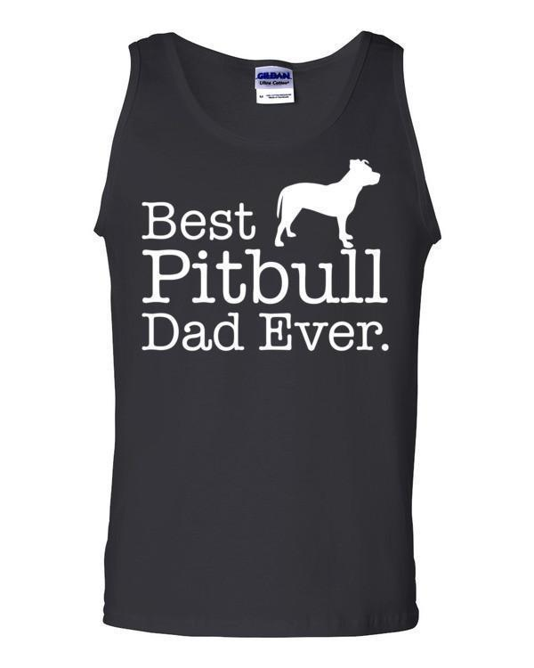 Best Pitbull Dad Ever Tank top Dog Lover Gift Tank Top Black / 2XL Tank Top BelDisegno