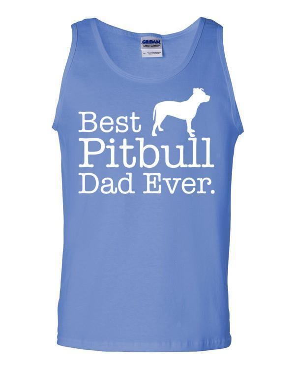 Best Pitbull Dad Ever Tank top Dog Lover Gift Tank Top Carolina Blue / 2XL Tank Top BelDisegno