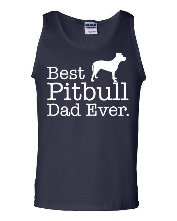 Best Pitbull Dad Ever Tank top Dog Lover Gift Tank Top Navy / 2XL Tank Top BelDisegno