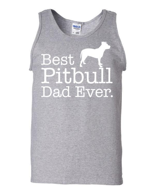 Best Pitbull Dad Ever Tank top Dog Lover Gift Tank Top Sport Grey / 2XL Tank Top BelDisegno