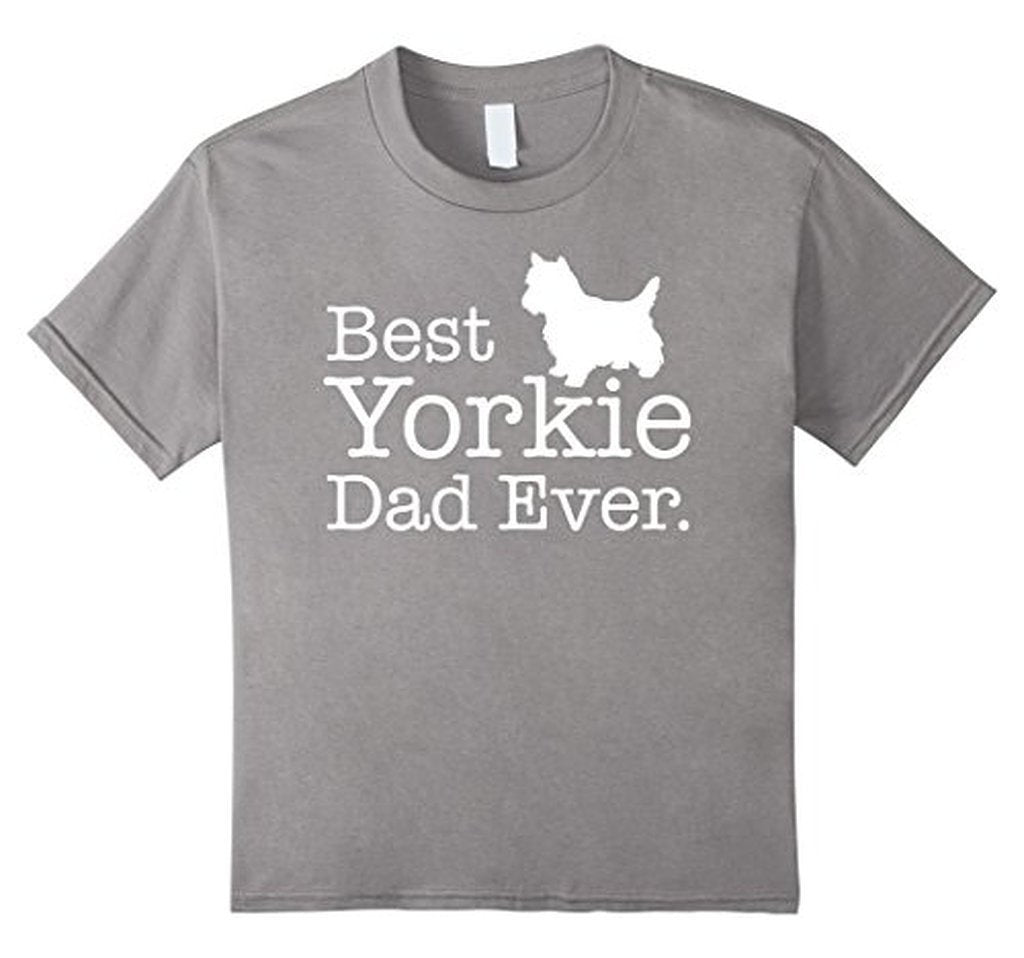 Best Yorkie Dad Ever Pet Kitten Animal Parenting T-shirt