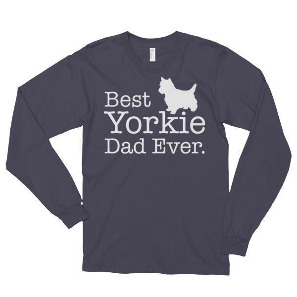 Best Yorkie Dad Ever Dog Lover T-shirt Color: BlackSize: S, M, L, XL, 2XL