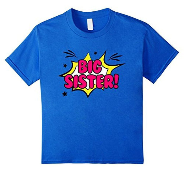 Big Sister Little Girls' Big Sister Gift TShirt-T-Shirt-BelDisegno-BelDisegno