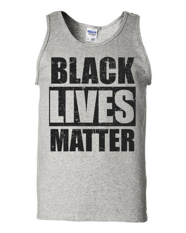 Black Lives Matter Tank Top Color: AshSize: S