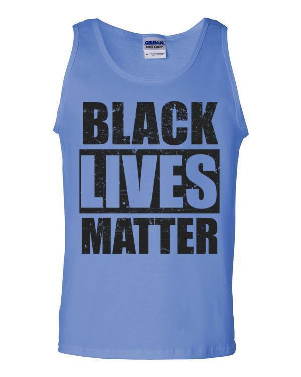 Black Lives Matter Tank Top Color: Carolina BlueSize: S