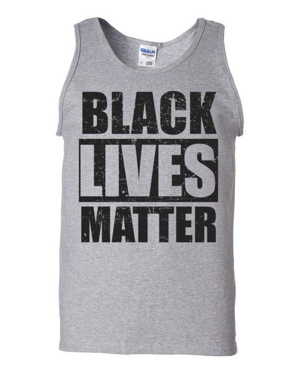 Black Lives Matter Tank Top Color: Sport GreySize: S