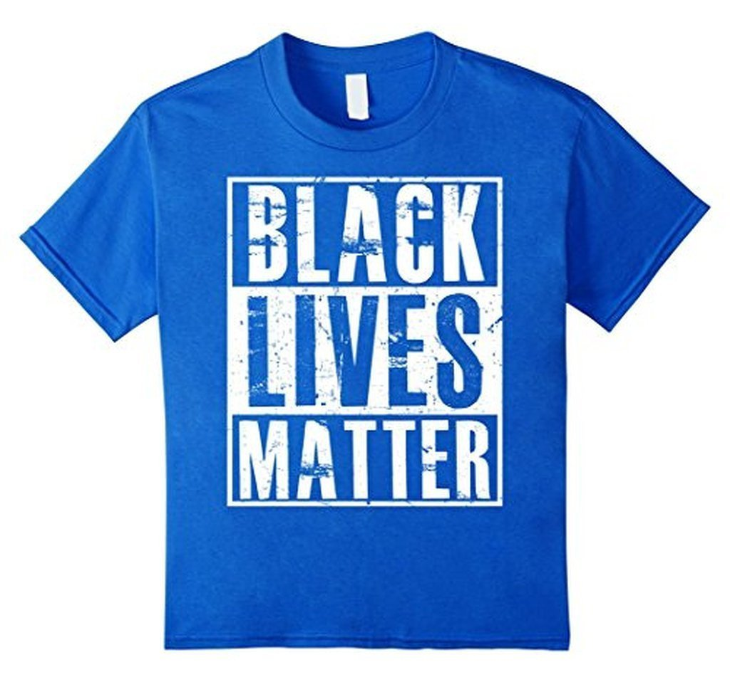 Black Lives Matter T-shirt racist violence Shirt Color: Royal BlueSize: S