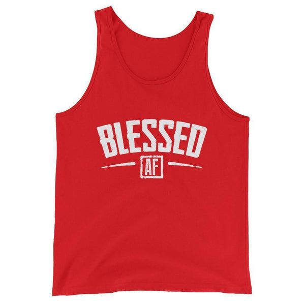 Blessed AF Tank Top-Tank Top-BelDisegno-Red-XS-BelDisegno