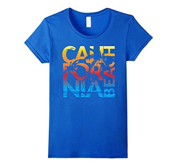 California Republic Palm T-shirt Royal Blue / 3XL T-Shirt BelDisegno