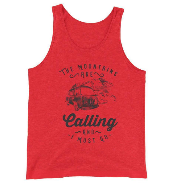 camping s funny Tank Top-Tank Top-BelDisegno-Red Triblend-XS-BelDisegno
