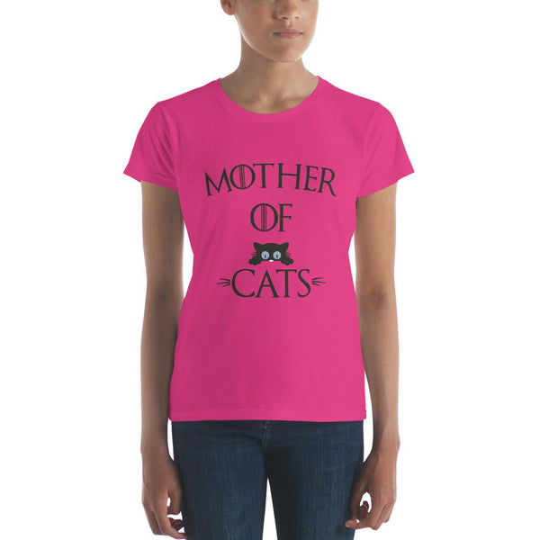 Cat Mother of Cats Gifts T-shirt Hot Pink / 2XL T-Shirt BelDisegno