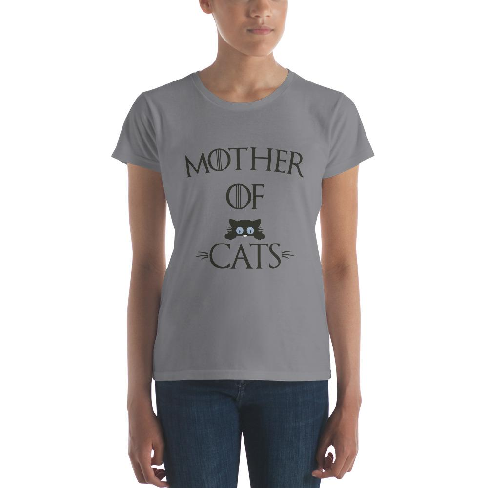 buy Cat Mother of Cats Gifts T-shirt online at BELDISEGNO for just $24.00 | Color Storm Grey | Size S