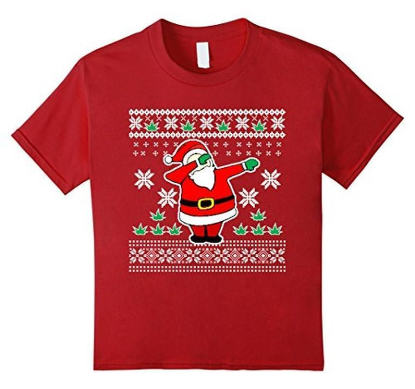 Dabbin Ugly Christmas THE SNOW Funny Santa Has Swag T-shirt Cranberry / 3XL T-Shirt BelDisegno