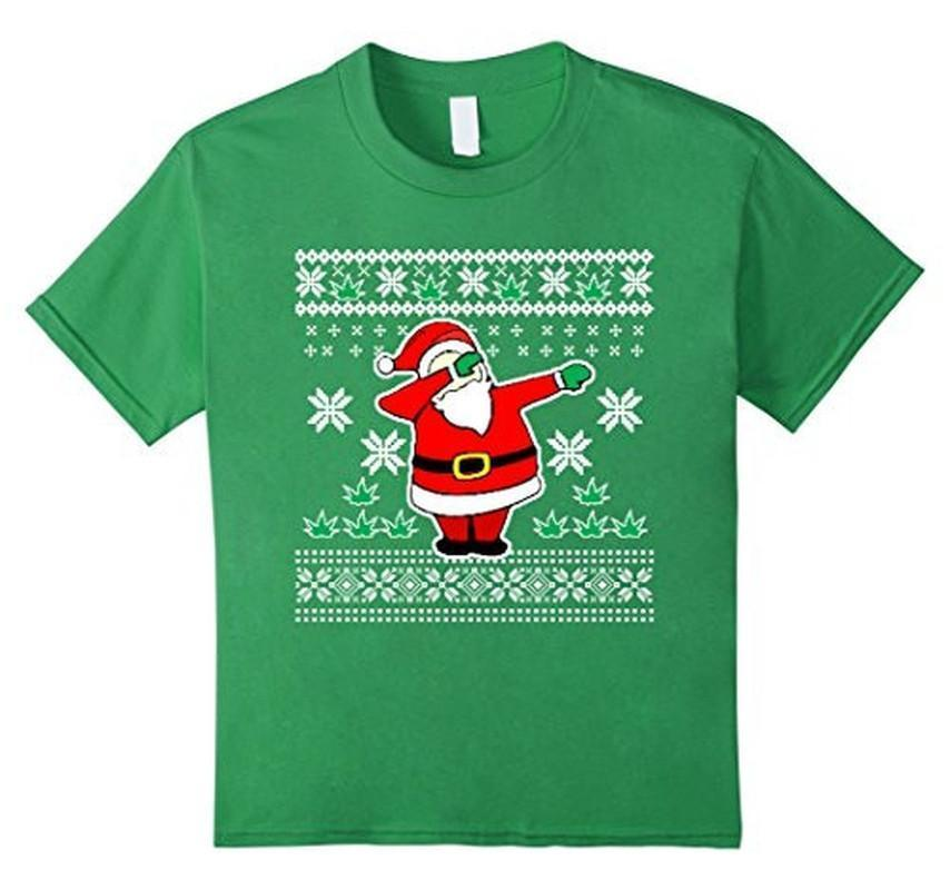Dabbin Ugly Christmas THE SNOW Funny Santa Has Swag T-shirt Grass / 3XL T-Shirt BelDisegno