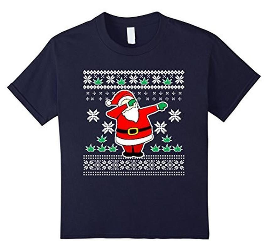Dabbin Ugly Christmas THE SNOW Funny Santa Has Swag T-shirt Navy / XL T-Shirt BelDisegno