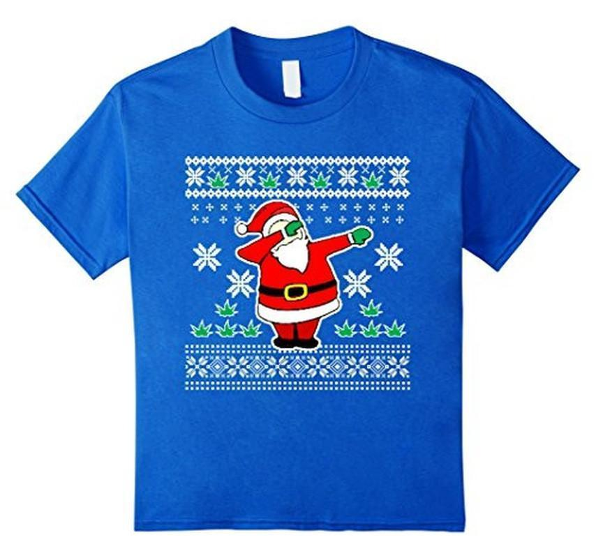 Dabbin Ugly Christmas THE SNOW Funny Santa Has Swag T-shirt Royal Blue / 3XL T-Shirt BelDisegno