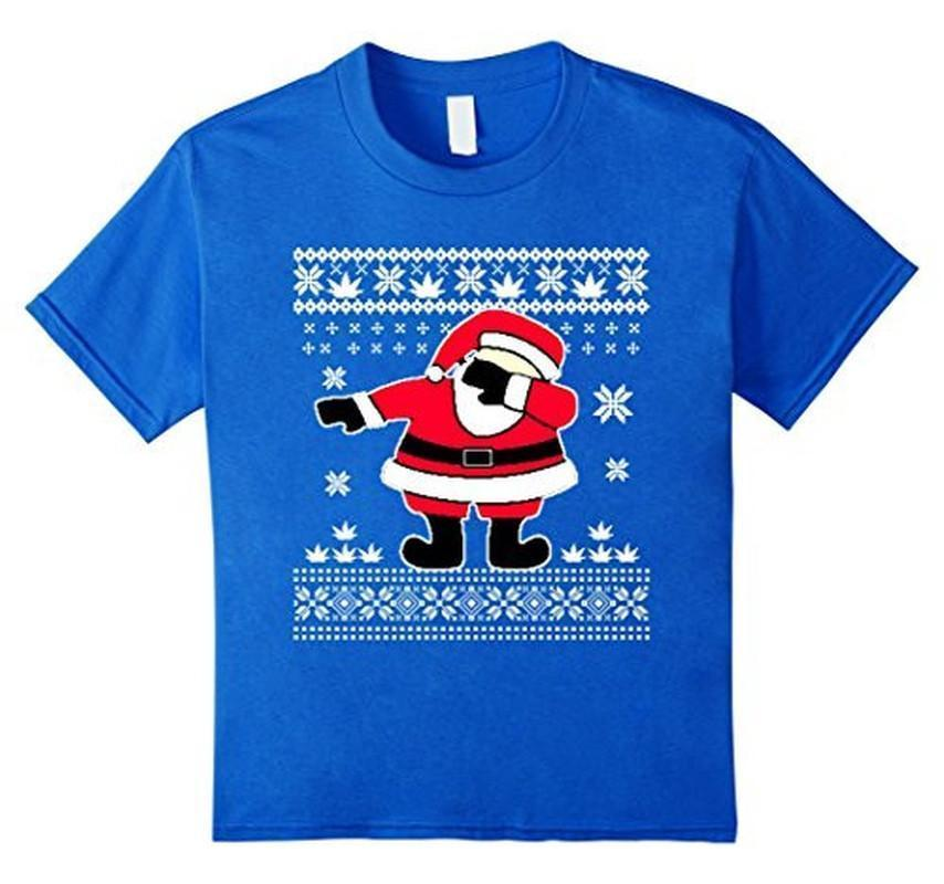 Dabbing Santa Ugly Christmas T-shirt Royal Blue / 3XL T-Shirt BelDisegno
