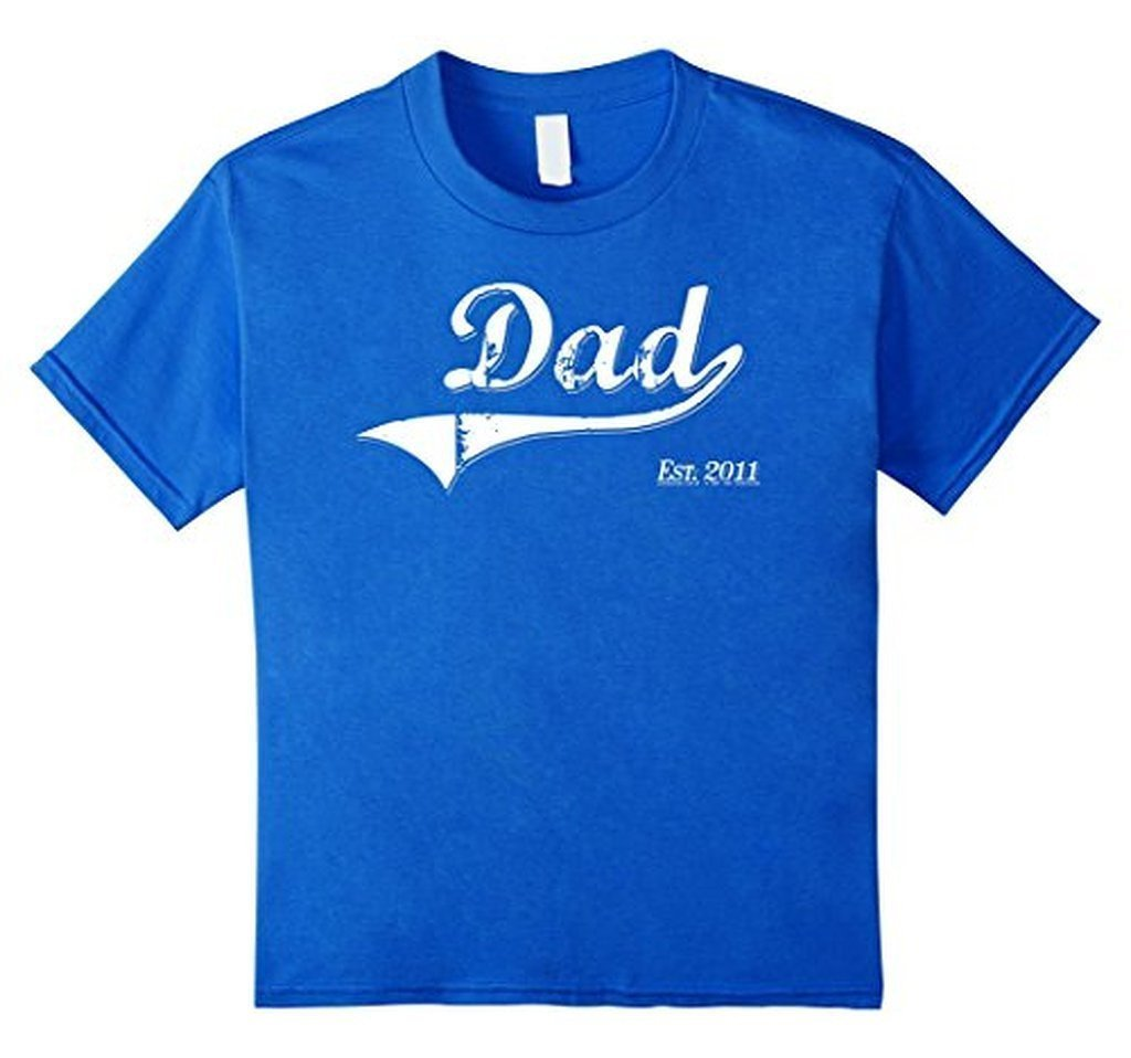 Dad Est. 2011 T Fathers Day Gift for Daddy New Gift T-shirt