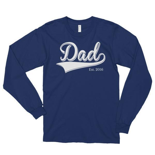 Dad Est 2016 Classic T-shirt Navy / 2XL T-Shirt BelDisegno