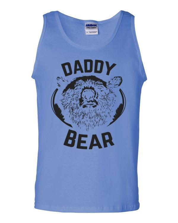 Daddy Bear Tank Top Carolina Blue / 2XL Tank Top BelDisegno