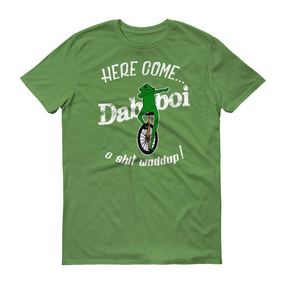 Dat Boi Dabbing Unicycle Frog TShirt-T-Shirt-BelDisegno-Green Apple-S-BelDisegno