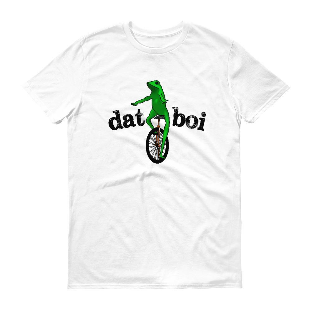 Dat Boi Unicycle Frog TShirt-T-Shirt-BelDisegno-White-S-Men-BelDisegno