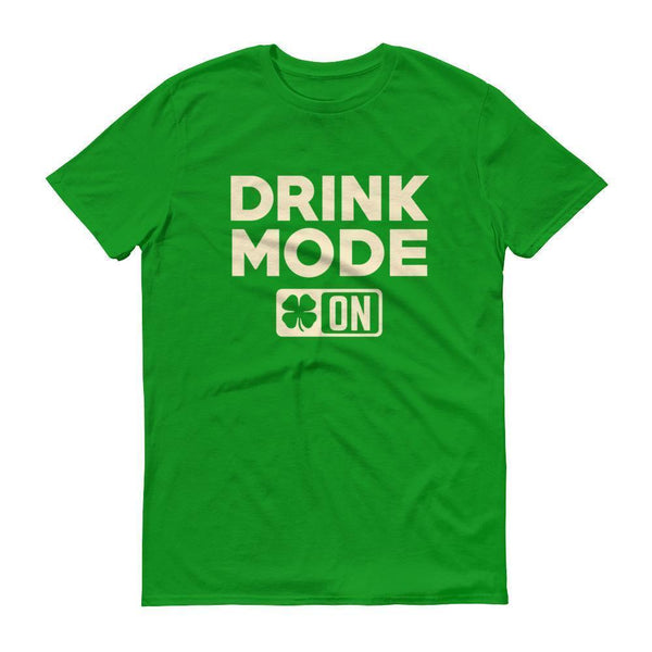 Drink Mode On Shirt Men's funny drinking shirt for st Patrick's day Cinco De Mayo Halloween  T-Shirt BelDisegno