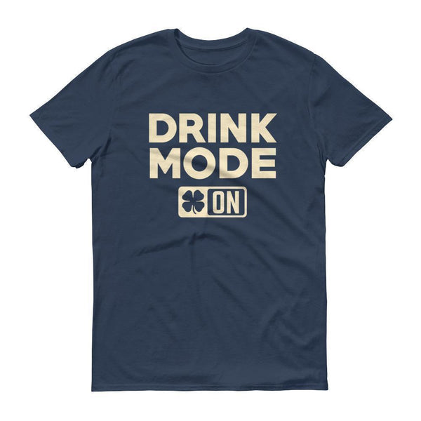 Drink Mode On Shirt Men's funny drinking shirt for st Patrick's day Cinco De Mayo Halloween Lake / 3XL T-Shirt BelDisegno